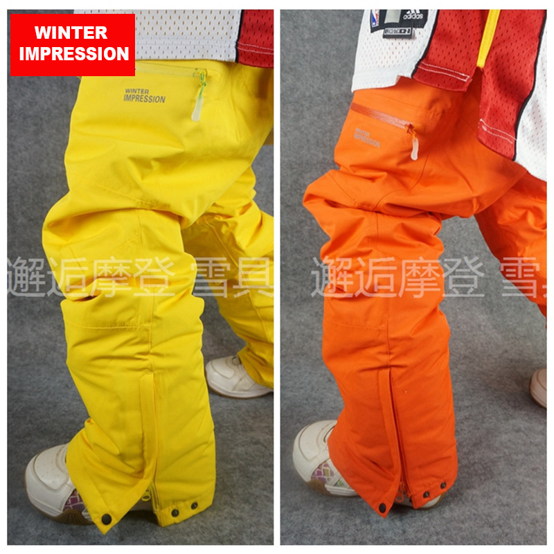 Winter Impression 2018 Waterproof Ski Pant for Men Women Plus Size Climbing Big Yards Trousers Outdoor Breathable Men Ski Pants size 32 44 hip hop pants plus size jeans leisure sports in men s trousers in europe and the men trousers