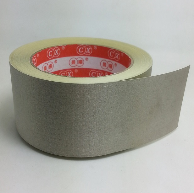 50mm Gray Nickel on Copper Plated Polyester Fabric Tape EMI Shielding Tape 20m/roll multi color 1 roll 20m marking tape 100mm adhesive tape warning marker pvc tape