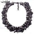 2015 Nueva Llegada de La Manera Shourouk Declaración ZA Marca de Lujo Negro Joya de La Vendimia Collar Gargantilla Collar Joyería de Las Mujeres 3785