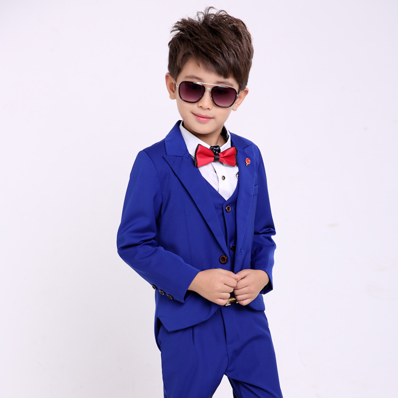 School uniform Dress for boys Formal Tuxedo Suits Weddings Blazer Vest Pants Kids Gentleman Party Children Clothing Sets B042 kindstraum school trend boys formal clothing suits shirt vest pants tie 4 pcs set children sets party