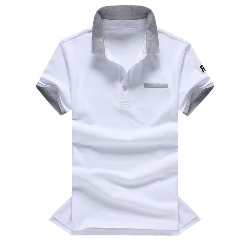 Ropalia Männer's M-3xl Dünnes Hemd Sommer Männlichen Kontrast Farbe Kurzarm Shirt Casual Trikots Shirts Plus Größe Fortgeschrittene Technologie üBernehmen