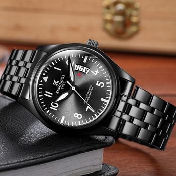 Men's Retro Business Watch Stainless Steel Luminous Waterproof Date Mens Watches Top Brand Luxury Wristwatch Clock Reloj Hombre - discount item  35% OFF Men's Watches
