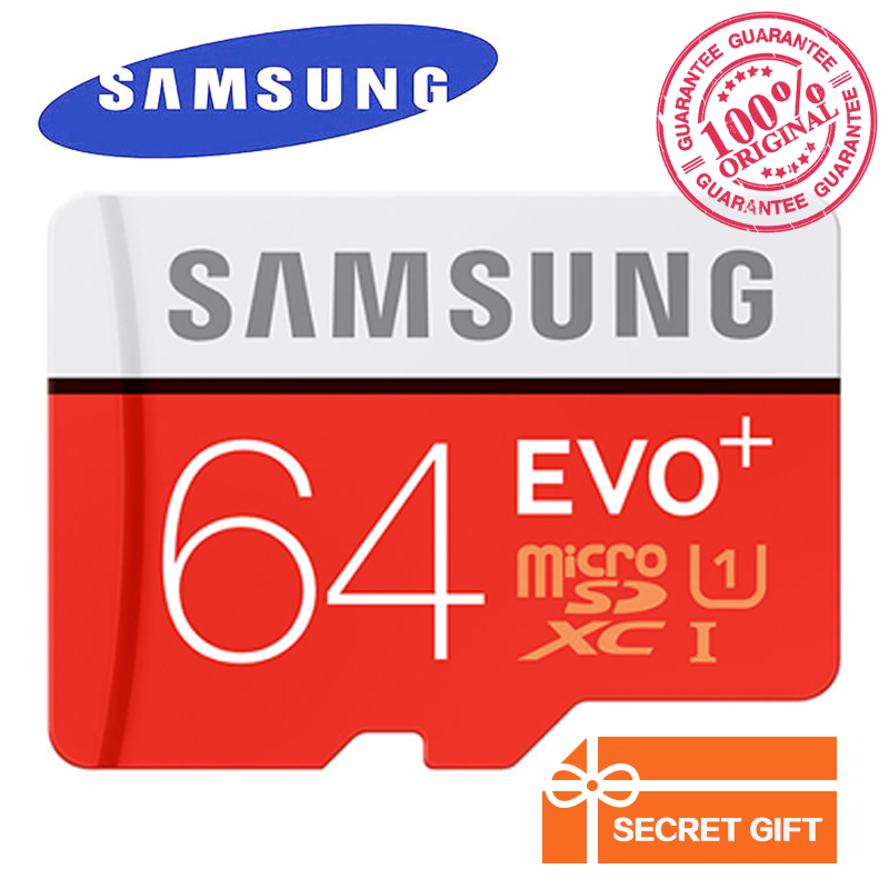 Prix pour 100% D'origine Véritable Samsung EVO + EVO Plus 64 GB Class10 Carte Micro Sd 80 MB/S UHS-1 Flash Mémoire MicroSD TF Carte