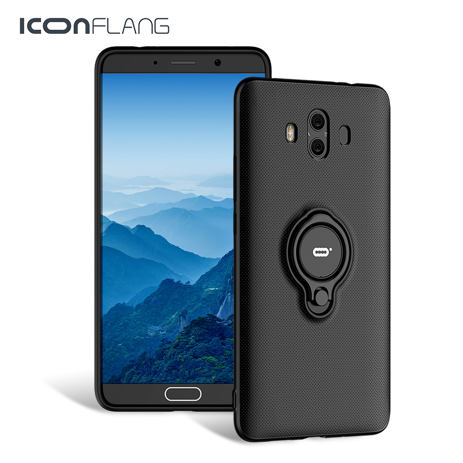 Pour Huawei mate 10 cas couverture mate10 pro anneau couverture dur pc back full protéger capas pour huawei compagnon 10 pro cas Shell iconflang