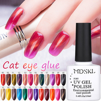 MDSKL 3D Cat Eyes UV Gel Polish 10ml Soak Off LED UV Gel Nail Polish Magnetic Gel Lacquer Long-Lasting 72 Colors For Choice
