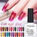 MDSKL 3D ojos de gato UV Gel polaco 10 ml remojo de LED UV Gel esmalte de uñas Gel magnético laca de larga duración 72 colores para elegir