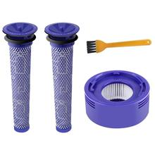 цена на High Quality Post Motor HEPA Filters Replacement for Dyson V8 V7 Cordless Vacuum Cleaners (Pack of 3)