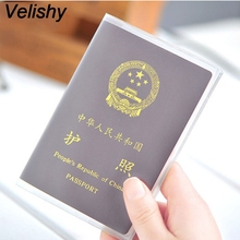HOT size 9x13.1cm silicone transparent waterproof dirt ID Card holders passport cover business card credit card bank card holder waterproof pvc transparent passport cover case women travel id card holders business credit card holder
