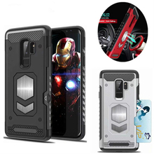 For Samsung Galaxy S9 Plus S7 Edge S8 NOTE 9 Magnetic Car Armor Case for A7 A9 A6 A8 Plus J4 J6 J8 2018 Heavy Duty Rugged Cover