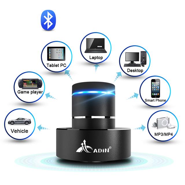 ADIN Metal 26W Vibration Bluetooth Speaker NFC Touch HIFI Subwoofer Wireless Speaker 360 Stereo Super Bass Sound Loudspeaker