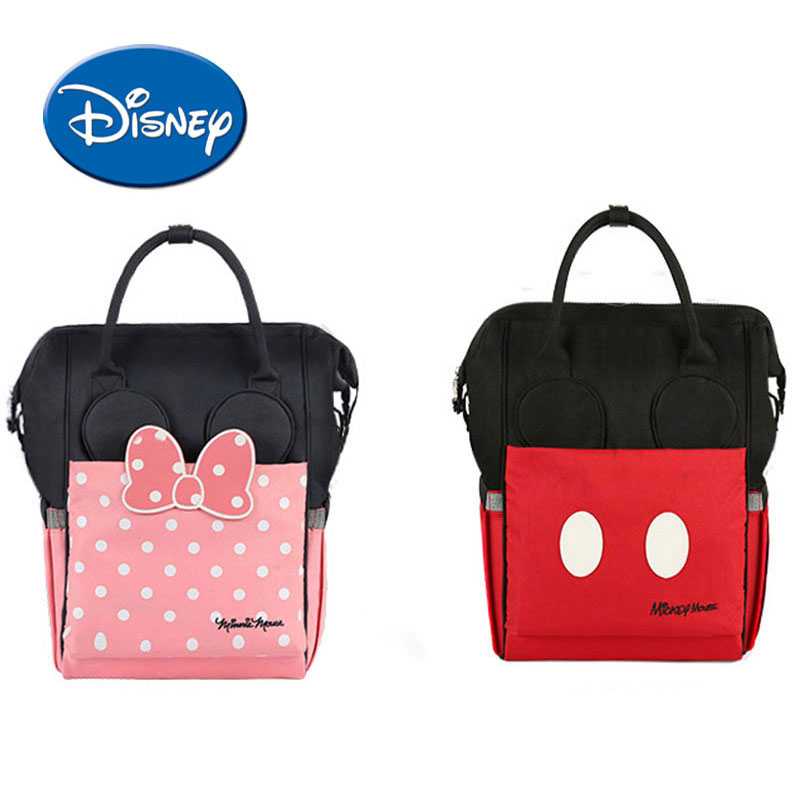 все цены на Disney Diaper Bag Maternity Nappy Backpack USB Heating Heat Preservation Large Capacity Toddler Nursing Travel Backpack онлайн