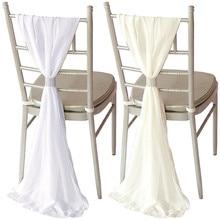 Marious wedding chiffon chair hood 100pcs 70*184cm  sashes ruffled window free shipping