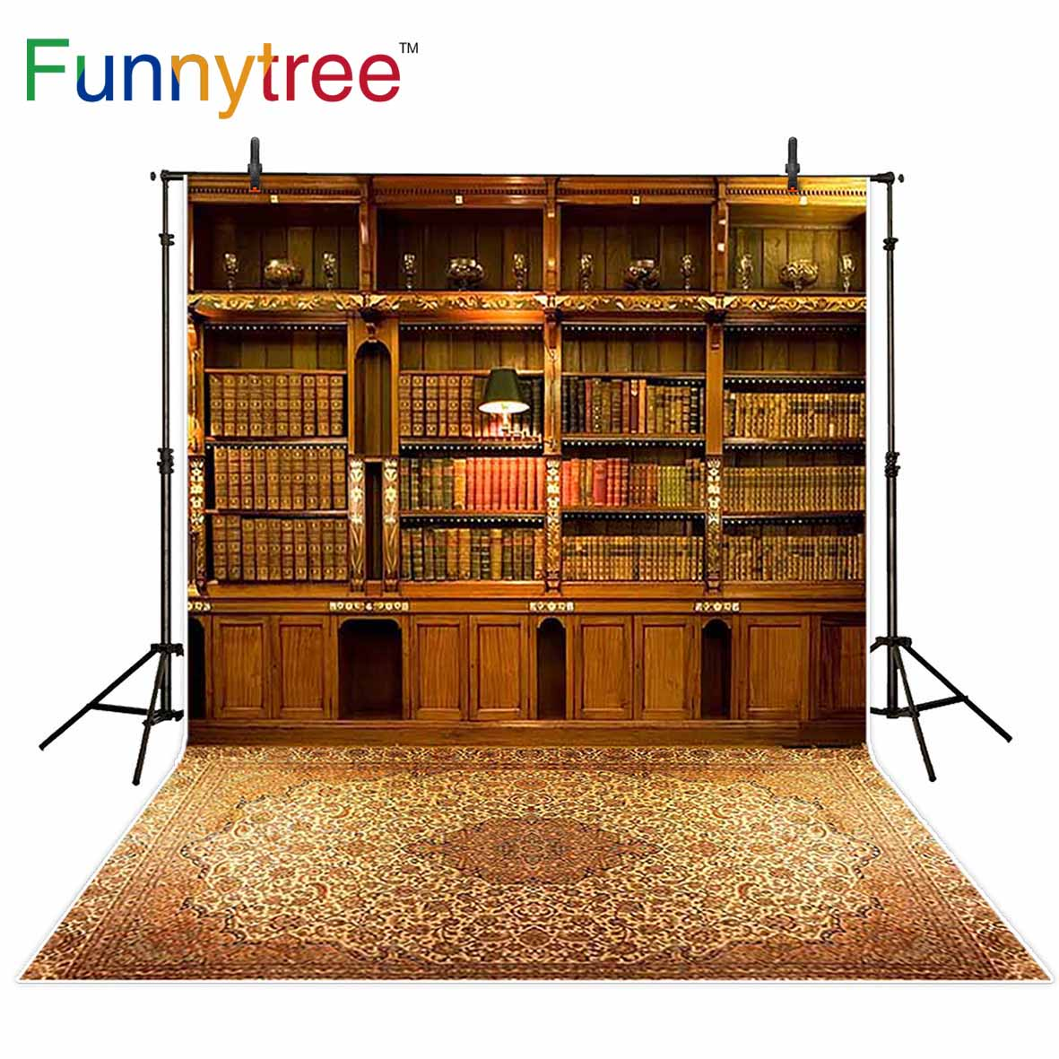 Funnytree Backdrops For Photography Studio Bookshelf Vintage Carpet Library  Luxury Wood Background Photobooth Photocall In Background From Consumer ...