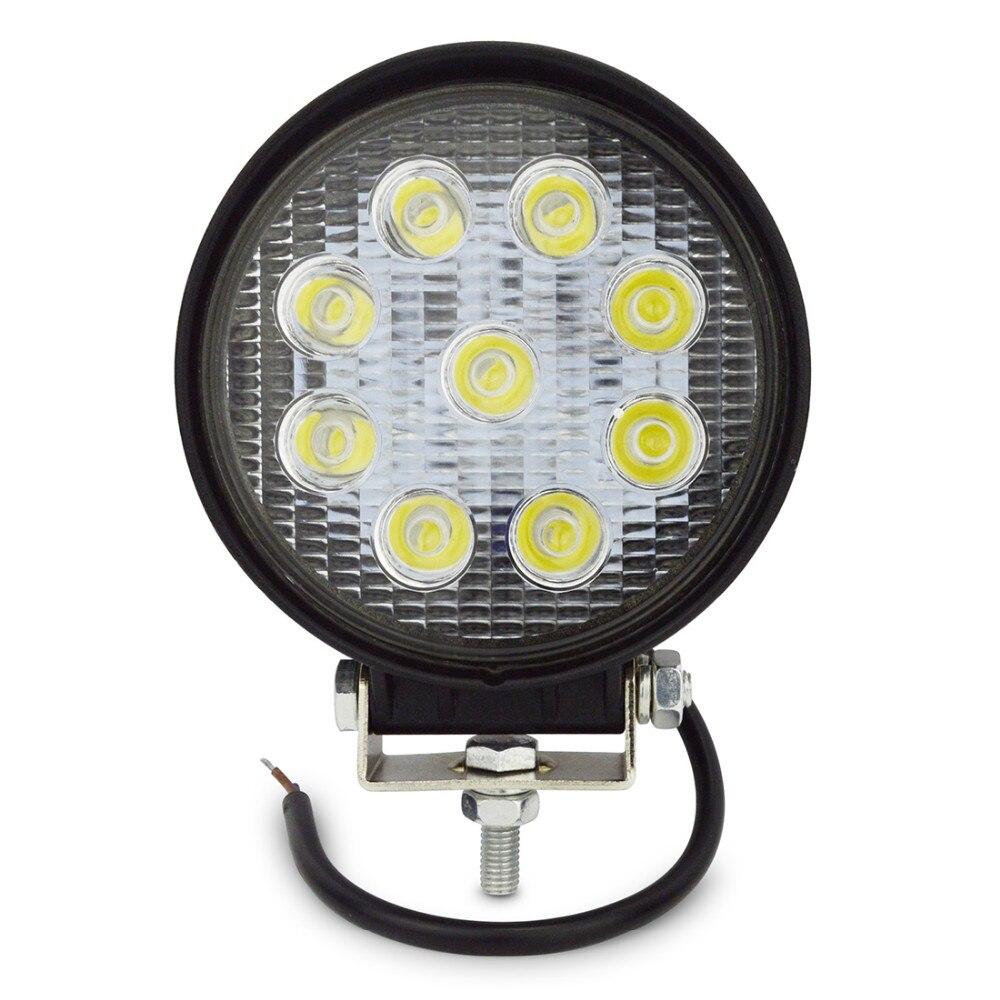 27 W LED Luce di Lavoro 12 V IP67 Spot/Flood Luce di Nebbia Off strada ATV Trattori Treno Barca Proiettore ATV UTV Lavoro luce