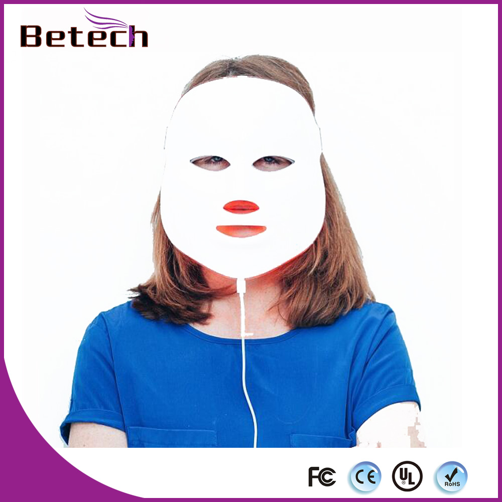 LED Photon Therapy Seven color Light Treatment Microcurrent Facial Mask Machine Photon Therapy Skin Facial Mask Acne Massage anti acne pigment removal photon led light therapy facial beauty salon skin care treatment massager machine