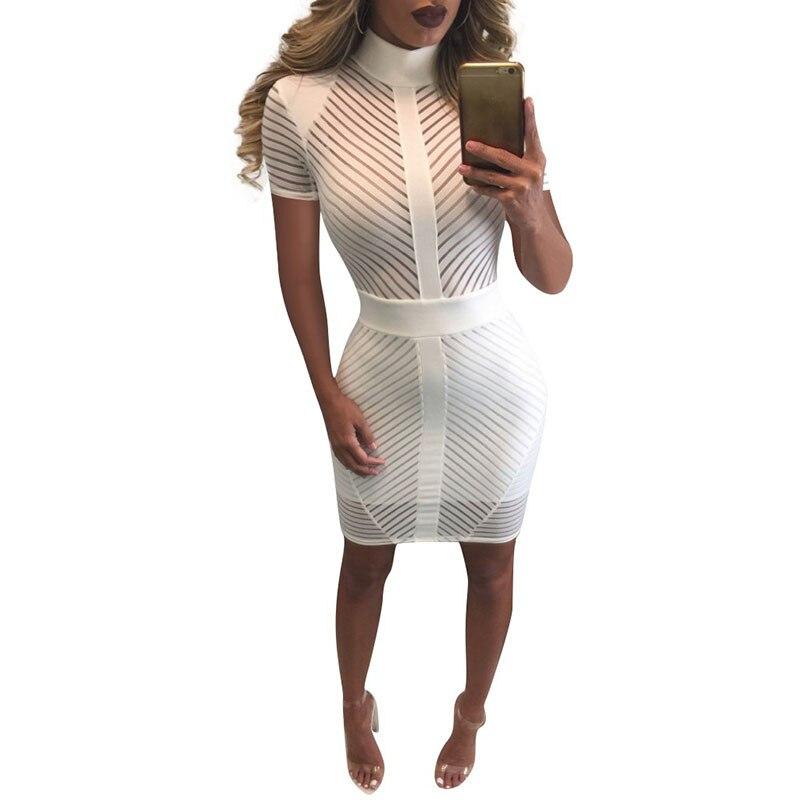 New Women Plus Size Summer Dress Patchwork Zipper Design Black Robe Sexy Bodycon Short Sleeve See Through Dress Mini Dress