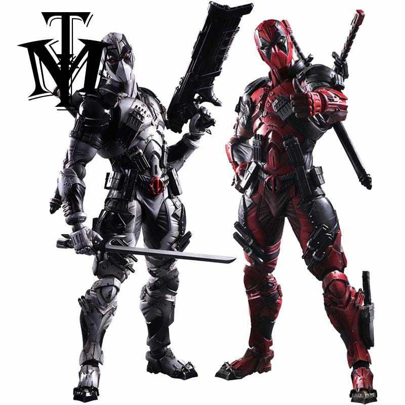 Jogar Artes 27 cm comic X-men Deadpool Super Hero Action Figure Modelo Boneca Brinquedos Wade Winston Wilson Playarts kai presente de Natal