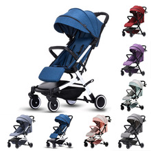 лучшая цена Baby yoya stroller mini lightweight cart Portable Folding Baby carriage can sit can lie Baby trolley 2 in 1 High landscape