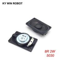 2PCS/Lot LCD Monitor/TV Speaker Horn 2W 8R 5030 3050 Loud speaker 8 ohms 2 Watt 50*30MM thickness 12MM