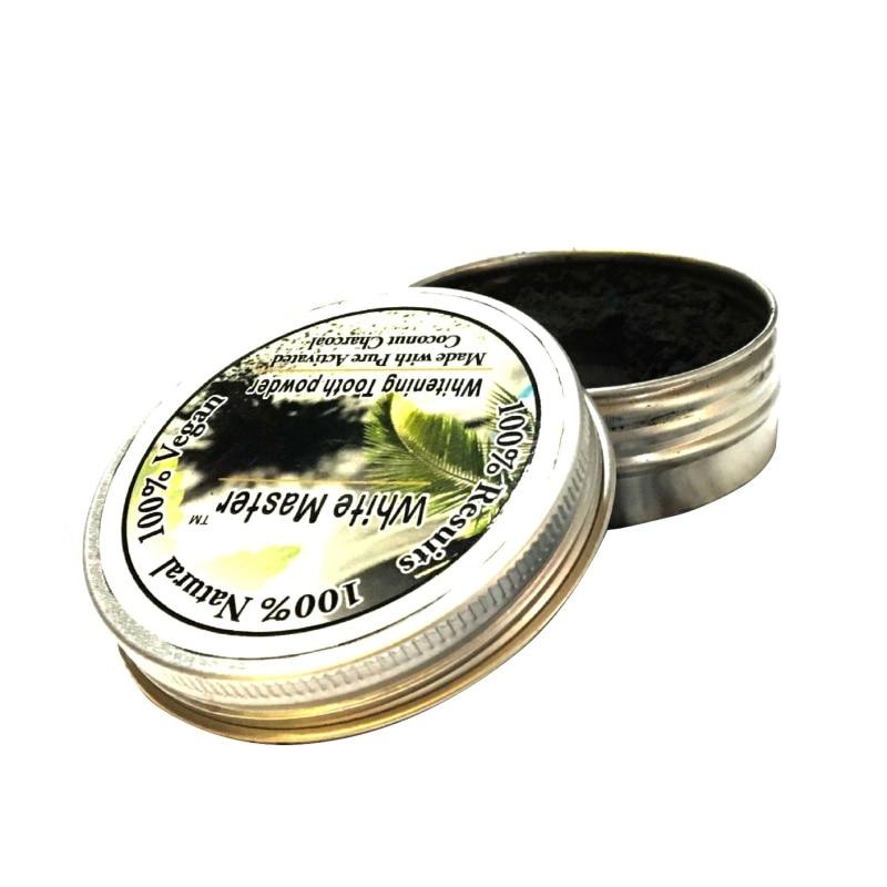 2018 heißer Verkauf Natur Bambus Aktivkohle Zahn Pulver Reinigung Zähne Plaque Zahnstein Entfernung Kaffee Flecken
