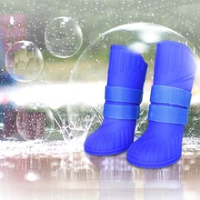 4pcs Pet Dog Shoes Waterproof Rain for Small Dogs Puppy Rubber Boots Candy Color ProductsHigh Gang
