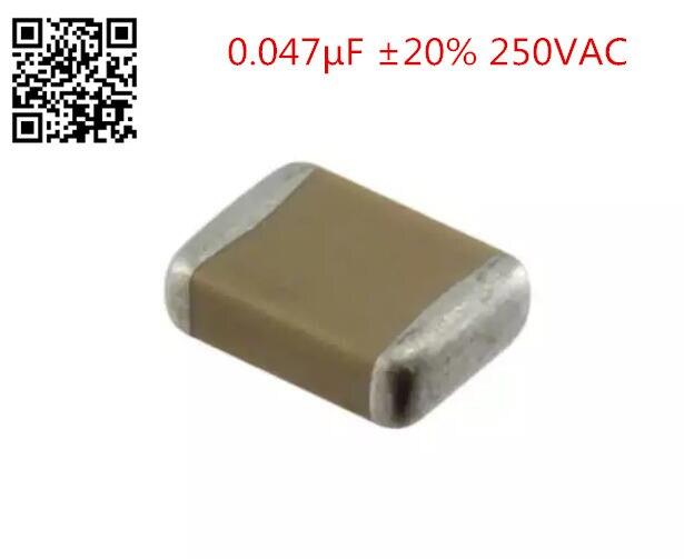 30 шт./лот GA243DR7E2473MW01L 0.047 мкФ 20% 250VAC керамический конденсатор X7R 1812 (4532 метрических)