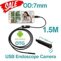 6pcs LED OTG USB Android Endoscope Camera 7mm Lens 1.5m Smart Android Phone Endoscopy Inspection Snake Tube Borescope USB Camera
