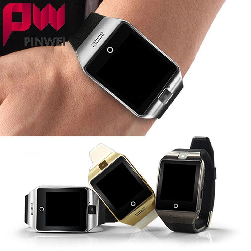 imágenes para Pinwei bluetooth smart watch smartwatch sport reloj soporte nfc sim tarjeta de la cámara para samsung android teléfono pk gt08 t55