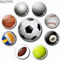 Football fridge magnet Basketball tennis rugby volleyball golf  30MM refrigerator magnets motion fridge sticker Home Decor Gifts