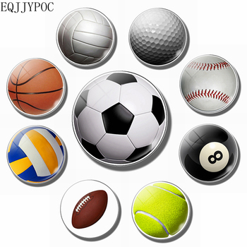 Football fridge magnet Basketball tennis rugby volleyball golf  30MM refrigerator magnets motion sticker Home Decor Gifts