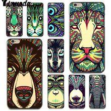 Yinuoda For iphone 7 6 X Case Luminous Animal Elephant Wolf Tiger Phone Case for iPhone X  8 7 6 6S Plus X 5 5S SE 5C чехол с новогодним принтом для iphone 5c 5 5s se 6 6s 7 plus 8 x