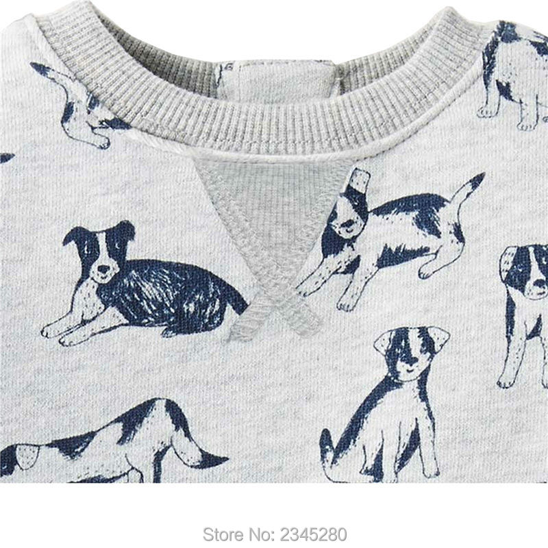 T Shirts For Baby Boys T-shirts Clothes Sweater Child Tops Long Sleeve Dog Print Children Tees Clothes Tops Clothing Bobo Choses05