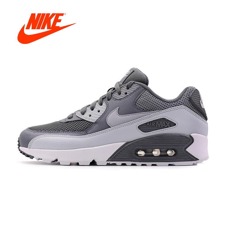 0e7c1b54f6b1 Original New Arrival Authentic NIKE Men s AIR MAX 90 ESSENTIAL Breathable  Running Shoes Sneakers Sport Outdoor 537384-073
