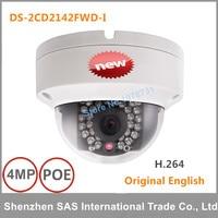 DHL Free Shipping Hikvision English Version DS 2CD2142FWD I 4MP Mini Dome Network Cctv Camera P2P