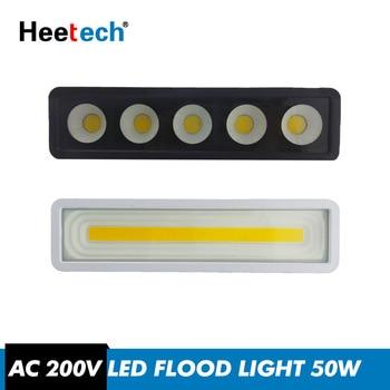 LED מבול אור Led זרקור 50 W 220 V IP65 עמיד למים חיצוני קיר רפלקטור תאורה קר לבן מנורת גן כיכר הארה