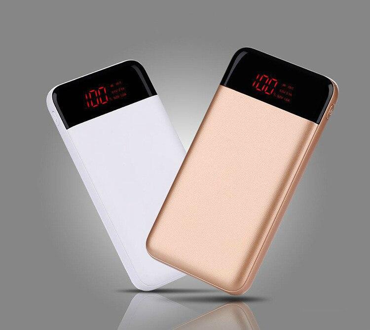 30000 mah Power Bank Externe Batterie PoverBank 2 USB LCD Power Tragbare handy Ladegerät für Xiao mi mi iphone 8 X