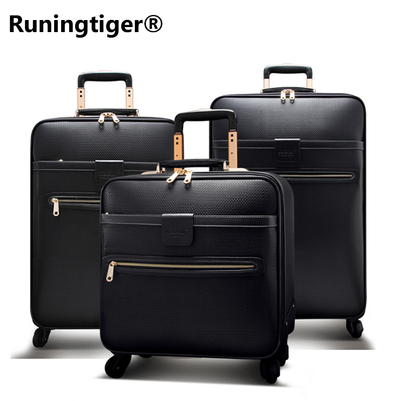 Mens or Womens Travel Cases Waterproof Luxury Travel Case 16 20 24 Leather Case Business Pulley Cart Retro Rolling SuitcaseMens or Womens Travel Cases Waterproof Luxury Travel Case 16 20 24 Leather Case Business Pulley Cart Retro Rolling Suitcase