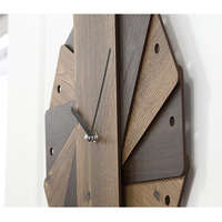 Creative European Wooden Wall Clock Simple Design Wandklok Retro Vintage Clocks Decorative Timer Wood Watch Home Decor 14