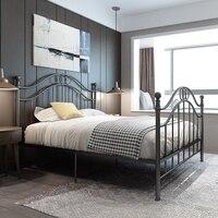 Европейский стиль винтаж Утюг каркас кровати 1,8 метра двойной одноместная железная кровать принцессы железная кровать 1,5 1,2 метра общежития