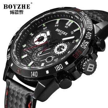 BOYZHE Brand Sports Military Watches Mens Automatic Mechanical Watch Men Chronograph Waterproof Luminous Relogio Masculino 2019