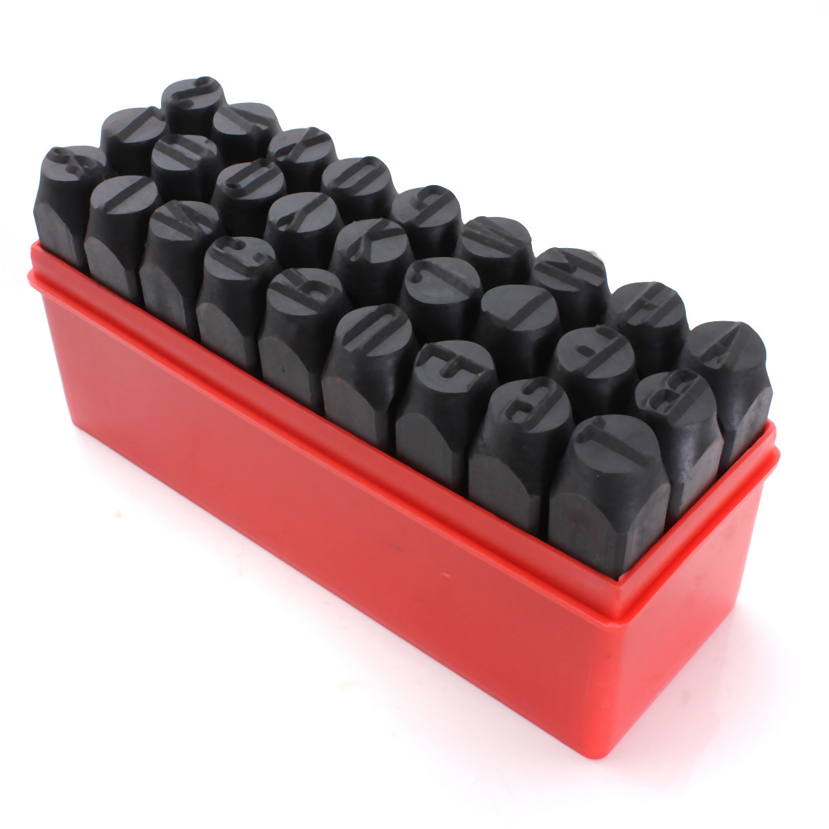 27pcs Selos Letras Do Alfabeto Conjunto Caixa De Ferramentas de Metal de Aço Soco Craft Hot 2/2. 5/3/4/5/6/8/10/12.5mm