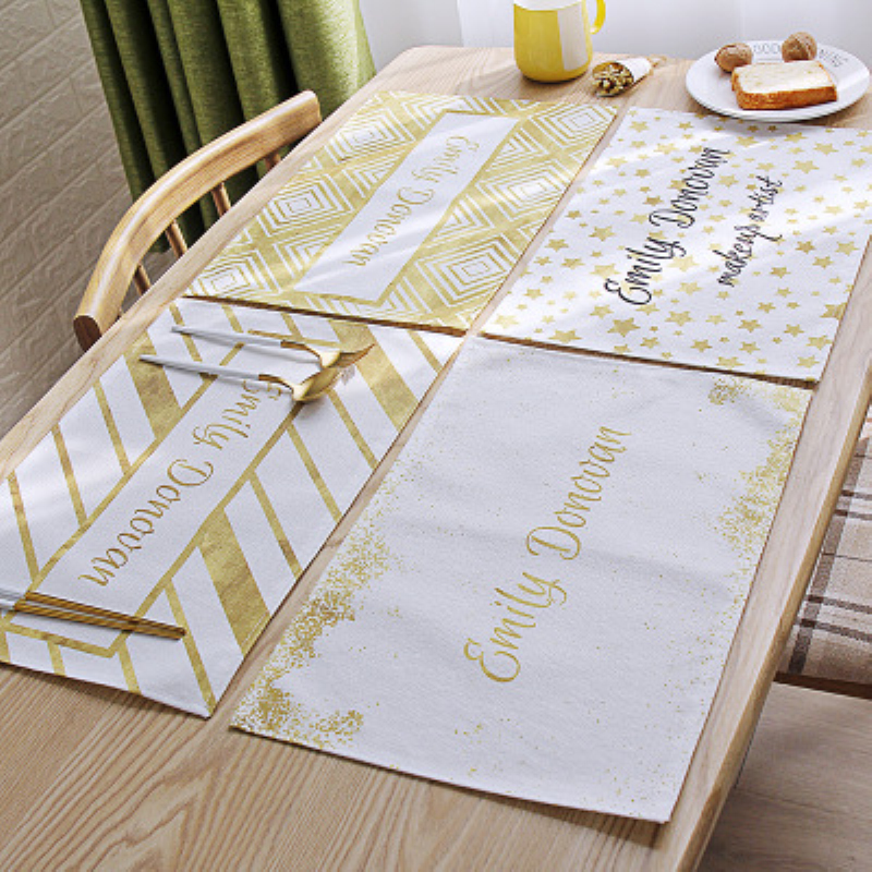 Placemat Polyester Pad Napkin Towels Non Slip Plate Mat
