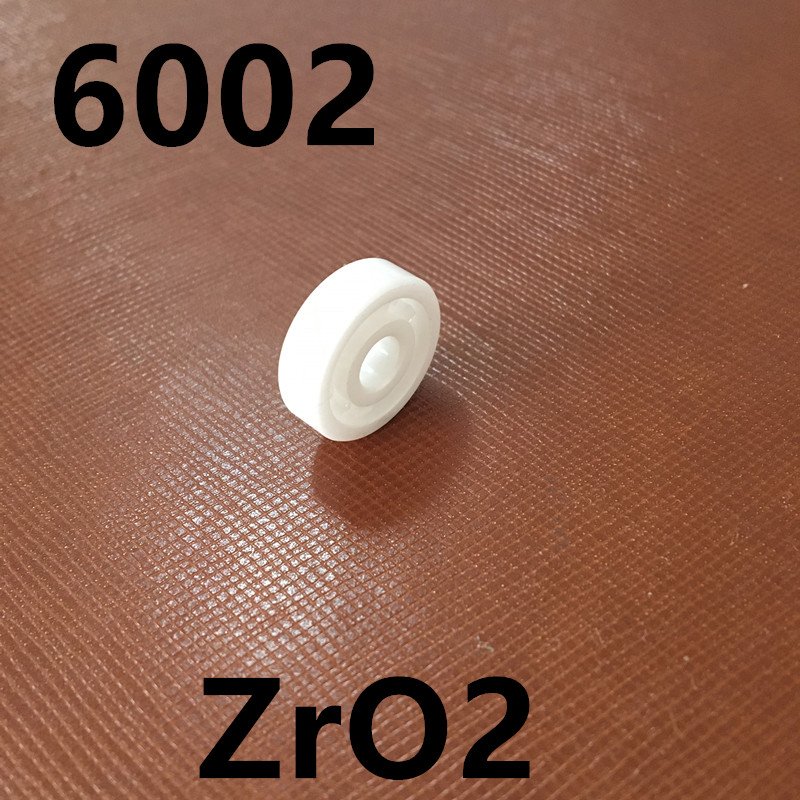 Free Shipping 15*32*9MM Full Ceramic bearing 6002 ceramic ball bearing ZrO2 ceramic wheel hub bearing zro2 15267 15 26 7mm 15267 full zro2 ceramic bearing