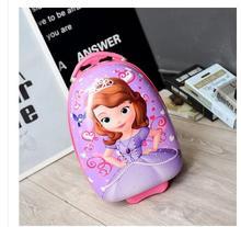 Brand kids School Trolley Case Children Travel Luggage Trolley Suitcase on wheels for Girl Cartoon Boy's Rolling Suitcase