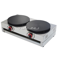 Commercial Gas Crepe Maker Double Burner Pancake Machine Gas Crepe Making Machine NP 586