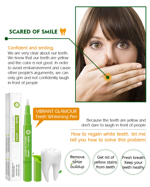 Карандаш для отбеливания зубов с гелем