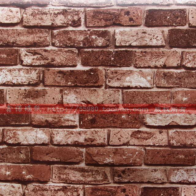 Cheap sale brick wallpaper pvc self adhesive vinyl rolls for Cheap wallpaper for sale