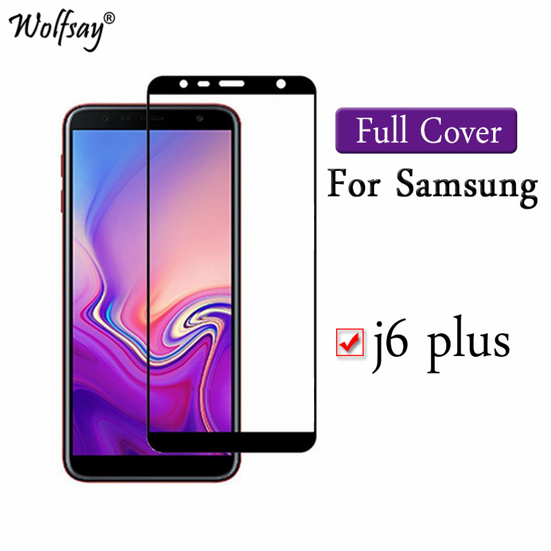 Color Full Cover Glass For Samsung Galaxy J6 Plus Screen Protector 9H Premium Cover For Samsung J6 Plus Tempered Glass SM-J610FNColor Full Cover Glass For Samsung Galaxy J6 Plus Screen Protector 9H Premium Cover For Samsung J6 Plus Tempered Glass SM-J610FN