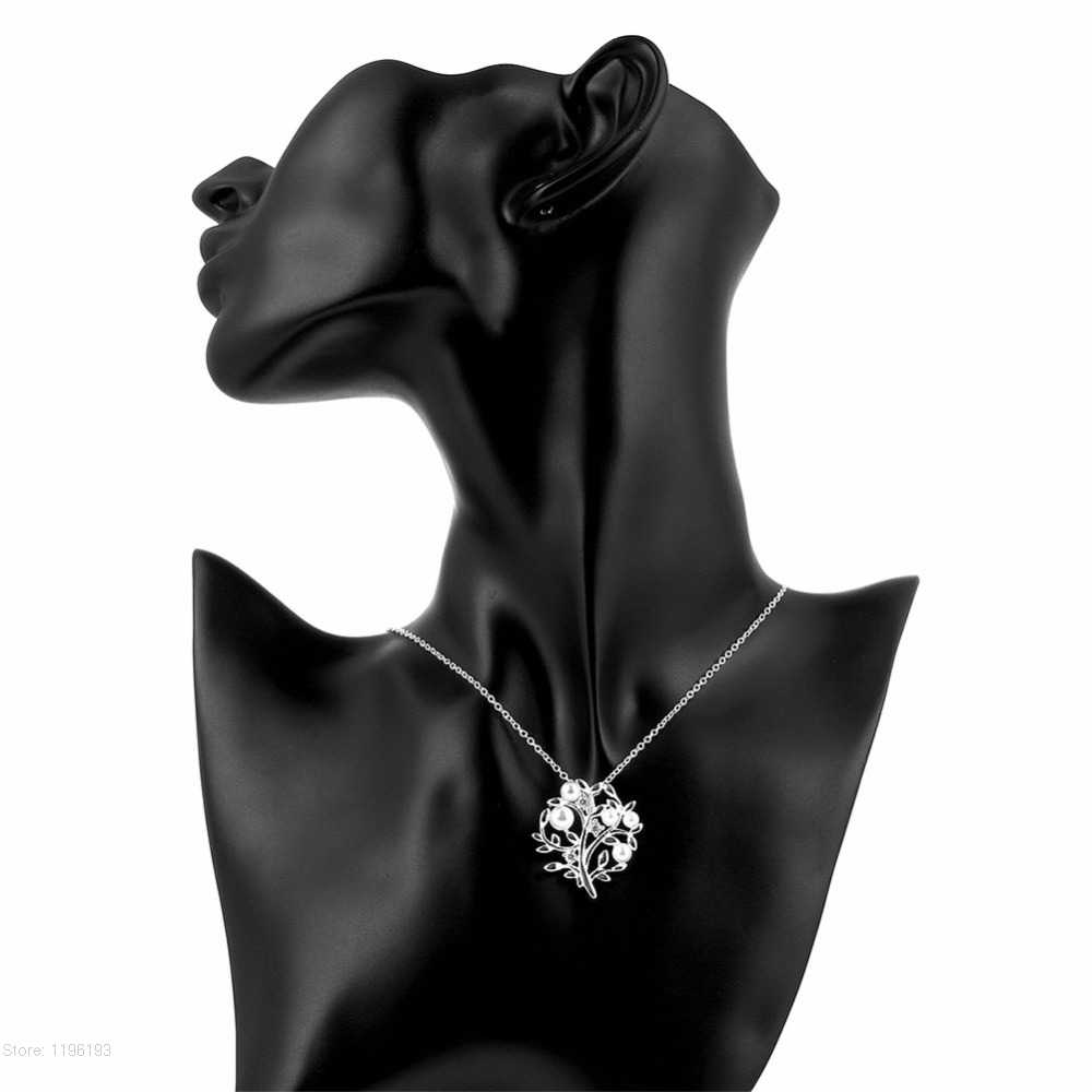 ใหม่แฟชั่นผู้หญิงออกแบบ Tree of life จี้สร้อยคอ 925 แสตมป์เงิน Pearl Cubic Zircon เครื่องประดับคุณภาพสูง