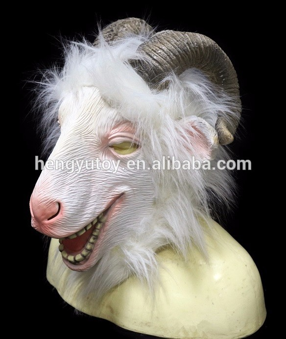 realistische animal fancy dress latex leuke ram masker dier dress up